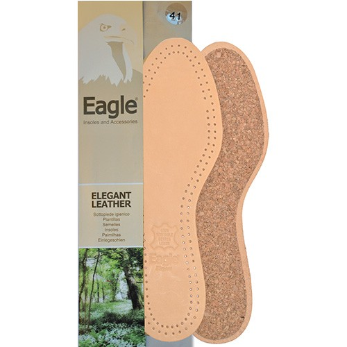 Eagle leather cork insole